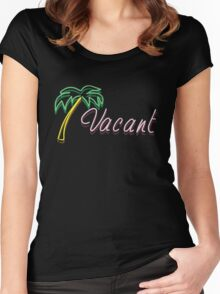 Vacant Neon Sign Women's Fitted Scoop T-Shirt