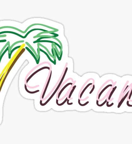 Vacant Neon Sign Sticker
