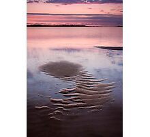 Sand Shapes on a Rising Tide Photographic Print