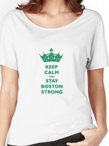 Keep Calm and Stay Boston Strong T-Shirt Women's Relaxed Fit T-Shirt