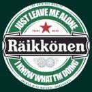 Kimi Raikkonen Leave Me Alone Circular Logo (I Know What I&#x27;m Doing) by oawan