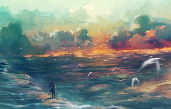 The girl who loved the sea by banafria