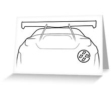 "86 / GT86 ""Bunny"" Silhouette - rear Greeting Card"