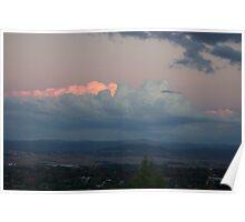 hillside sunset Poster
