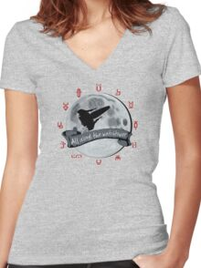 All Along the Watchtower Women's Fitted V-Neck T-Shirt