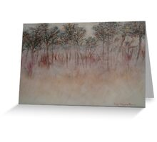 Trees In Early Morning Fog Greeting Card