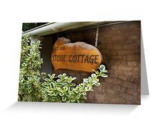 1826 Stone Cottage Greeting Card
