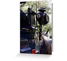 Sevilla Horse Carriage Details Greeting Card