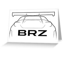 "BRZ ""Bunny"" Silhouette - rear Greeting Card"