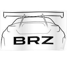 """BRZ """"Bunny"""" Silhouette - rear Poster"""