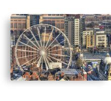 Leeds Observation Wheel (OWL) And BBC Leeds Canvas Print