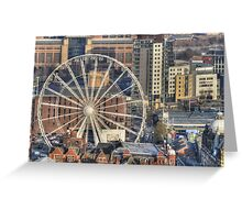 Leeds Observation Wheel (OWL) And BBC Leeds Greeting Card