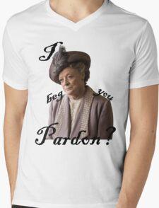 I beg you pardon? Lady Violet Quotes Mens V-Neck T-Shirt