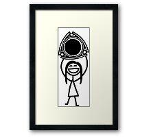 Rotary for life girl Framed Print