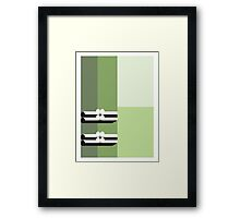 THE GREEN - abstract geometry - plate 1 Framed Print
