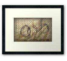 finca circles Framed Print