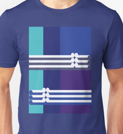 THE BLUE - abstract geometry - plate 3 Unisex T-Shirt