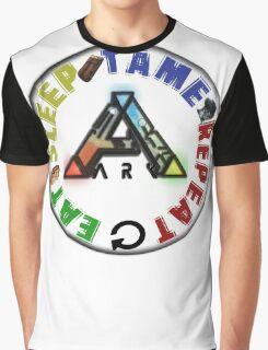 EAT SLEEP TAME REPEAT Graphic T-Shirt