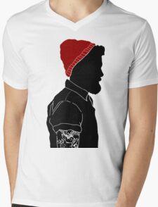 Black Man Mens V-Neck T-Shirt