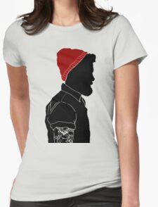 Black Man Womens Fitted T-Shirt