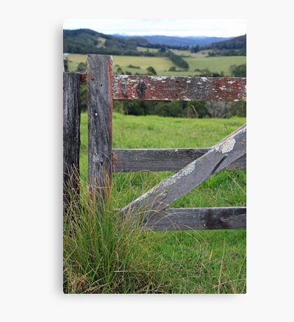Shut the gate Canvas Print