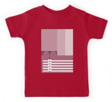 FAMILY TIES   - abstract geometry - plate 10 Kids Tee