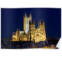 Canterbury cathedral at Night Poster