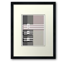 THE DIM # 2  - abstract geometry - plate 14 Framed Print