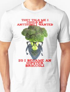 Hipster Broccoli Unisex T-Shirt