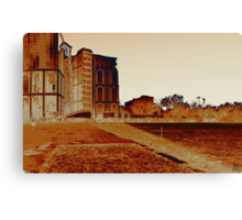 a postcard from the suburb Canvas Print