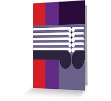 THE MIDDLE WAY - abstract geometry - plate 16 Greeting Card