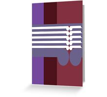 THE MIDDLE WAY  # 2 - abstract geometry - plate 17 Greeting Card