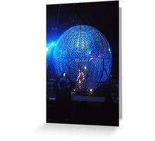 Circus/Motor Cycle Act IIi  -(150413)- Digital photo/FujiFilm AX350 Greeting Card