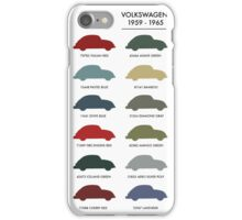 Vintage Colours VW Beetle  iPhone Case/Skin