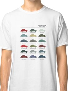 Vintage VW Beetle 60's original car colours Classic T-Shirt