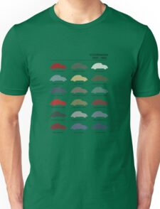 Vintage Colours VW Beetle  Unisex T-Shirt
