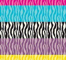 Pastel Zebra Patterns by ValeriesGallery
