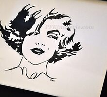 Marilyn Monroe Posh (watercolor) by Patricia Feaster-Kimmerle