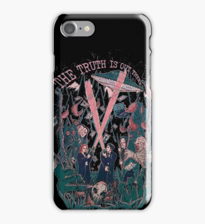 Out There Ode to The X Files iPhone Case/Skin