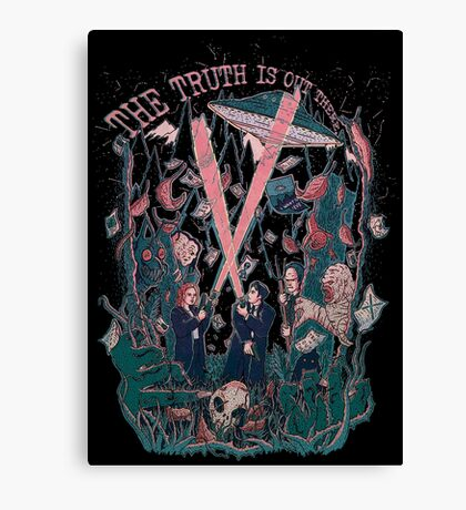 Out There Ode to The X Files Canvas Print