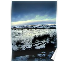 moorland in snow 2 Poster