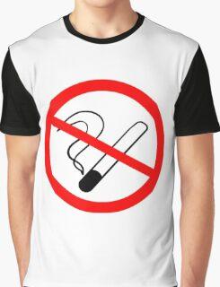 No Smoking Sign Graphic T-Shirt