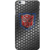 Autobot Symbol - Brushed Metal 1.0 iPhone Case/Skin