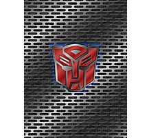 Autobot Symbol - Brushed Metal 1.0 Photographic Print