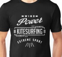 Wind Power Kitesurfing B&W Unisex T-Shirt