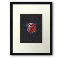 Autobot Symbol - Brushed Metal 2 Framed Print