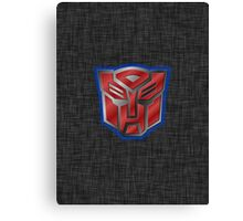 Autobot Symbol - Brushed Metal 2 Canvas Print