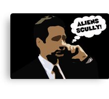 "X-Files Mulder ""Aliens Scully"" Canvas Print"