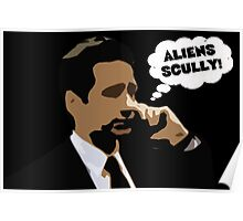 "X-Files Mulder ""Aliens Scully"" Poster"