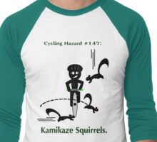 Cycling Hazards - Kamikaze Squirrels Men's Baseball ¾ T-Shirt